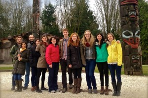Students from RIIC in front of the UBC Museum of Anthropology