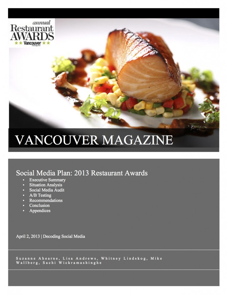 UBC Social media report cover